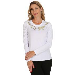 VI VA DIVA  Shirt weiß/gold