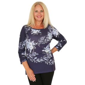 BRILLIANTSHIRTS Damen-Shirt blau