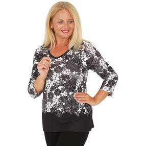 BRILLIANT SHIRTS Damen-Shirt schwarz/weiß