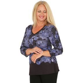 BRILLIANT SHIRTS Damen-Shirt, dunkelblau/lila