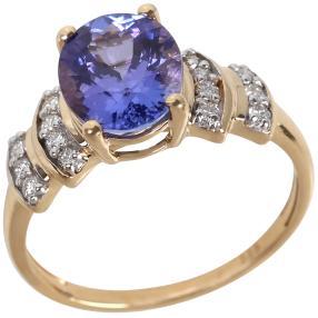 Ring 585 Gelbgold AA+ Tansanit