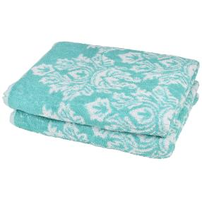OPTISPLASH Duschtuch 2er Set, Jacquard mint