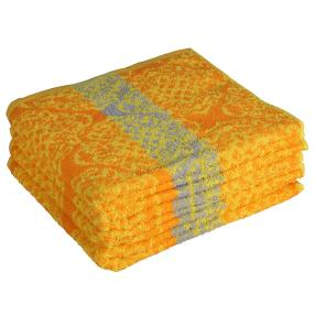 OPTISPLASH Handtuch 4er-Set Raute orange-gelb