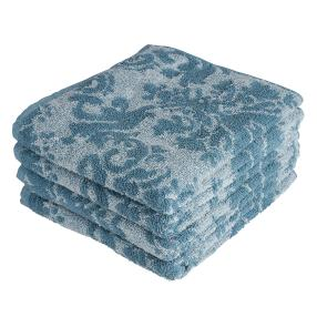 OPTISPLASH Handtuch 4er Set, Jacquard blau
