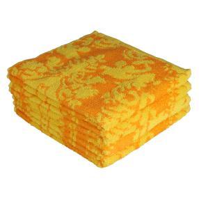 OPTISPLASH Handtuch 4er Set, Jacquard gelb-orange