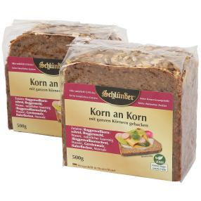 Schlünder Korn an Korn Brot 2x 500g