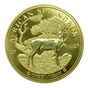 1 kg Springbok 2020, vergoldet
