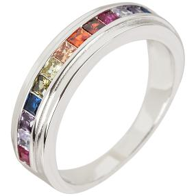 Ring 925 Sterling Silber Zirkonia multicolor