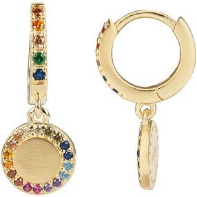 Ohrhänger 925 Silber vergoldet Zirkonia multicolor
