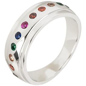 Ring 925 Sterling Silber Zirkonia multicolor