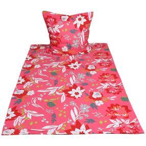 AllSeasons Bettwäsche 2tlg. Floral pink135x200cm