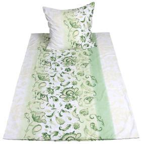 AllSeasons Bettwäsche grün 2tlg. 135x200 cm