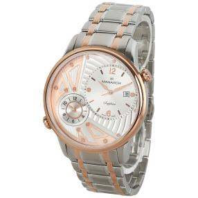 MANAGER Herrenuhr URBAN bi-color rosé, silber