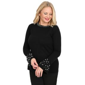 CANDY CURVES Pullover schwarz