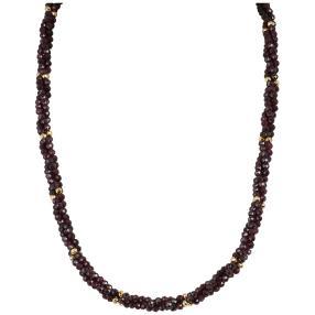 Collier Granat, ca. 45+5 cm