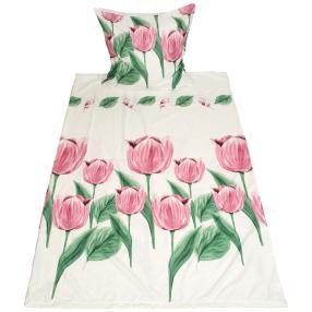 AllSeasons Bettwäsche 2tlg. Tulpen pink 135x200 cm