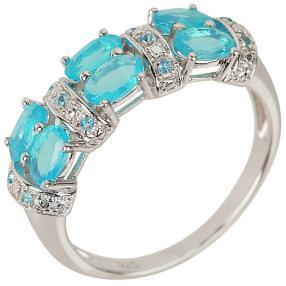 Ring 925 Sterling Silber, Äthiopischer Opal blau