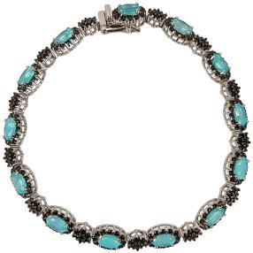 Armband 925 Sterling Silber Äthiopischer Opal