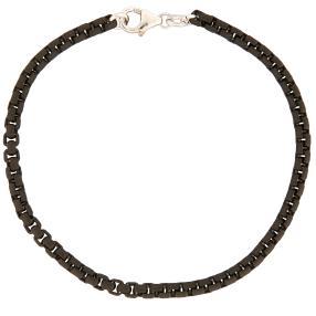 Venezianerarmband 925 Silber geschwärzt, ca. 21 cm