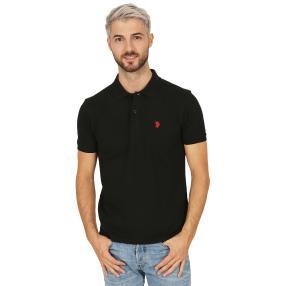 U.S. POLO ASSN. Herren-Poloshirt, schwarz