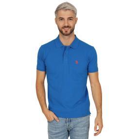 U.S. POLO ASSN. Herren-Poloshirt, blau