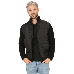 Herren-Jacke mit Strickeinsätzen  schwarz