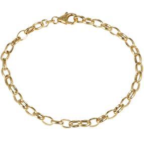 Erbsarmband 585 Gelbgold, ca. 19cm