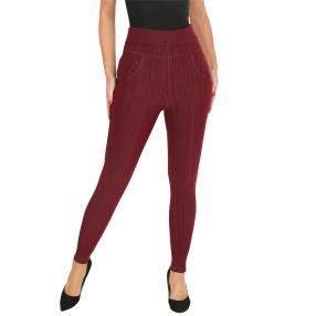 FASHION NEWS Thermo-Fleece-Leggings weinrot