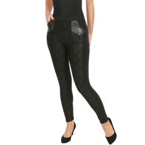 FASHION NEWS Thermo-Fleece-Leggings schwarz