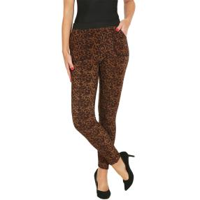 FASHION NEWS Thermo-Fleece-Leggings schwarz/beige