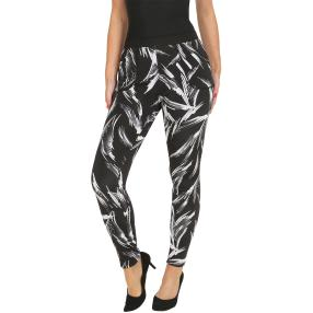 FASHION NEWS Thermo-Fleece-Leggings schwarz/creme
