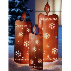 LED Deko-Kerzen, Weihnachtsmotiv