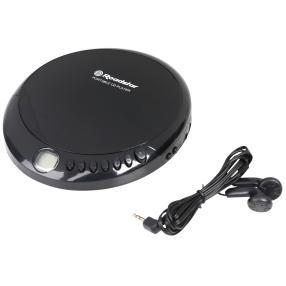 Tragbarer CD-Player, schwarz