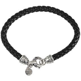 Lederband schwarz, 925 Sterling Silber