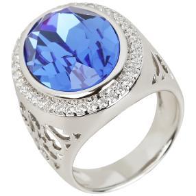 Ring Swarovski®Kristalle blau