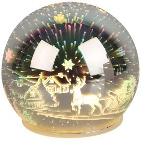 LED-Glaskugel Weihnachtsmotiv