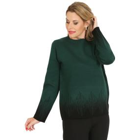 Pullover, schwarz/dunkel grün