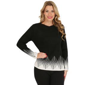 Pullover, schwarz/weiß