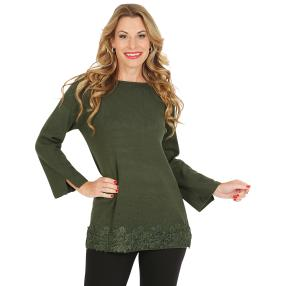 Pullover, Spitze, grün