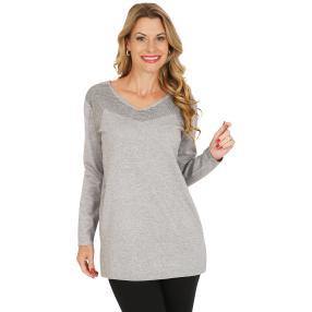 Pullover, Lurex, grau/silber
