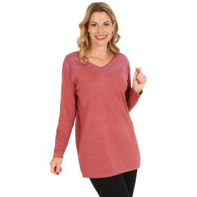 Pullover, Lurex, rot/pink