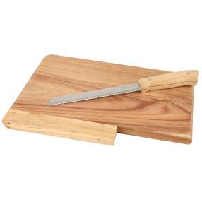 Schneidebrett inkl. Brotmesser aus Akazienholz
