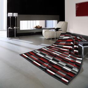 Biederlack Kuscheldecke gestreift, 150 x 200 cm