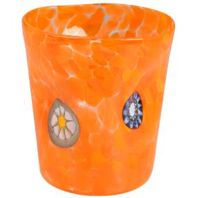 Murano Glas Goto Venezia orange, Ø 9 cm