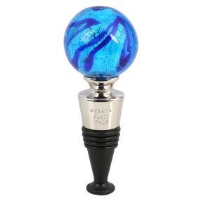 Murano Flaschenverschluss blau