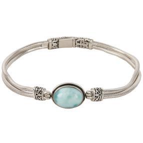 Armband 950 Silber Larimar