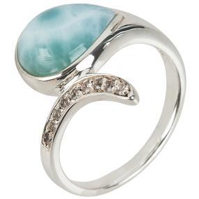 Ring 950 Silber Larimar + Topas