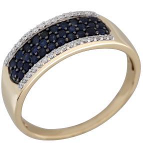 STAR Ring 585 Gelbgold Saphir Thailand