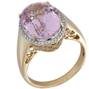 STAR Ring 585 Gelbgold AAA Kunzit
