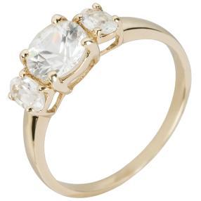 Ring 375 Gelbgold, Zirkon weiß